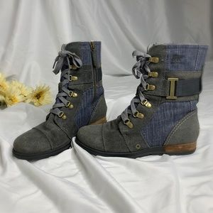 Sorel Major Carly Denim Jean Boots